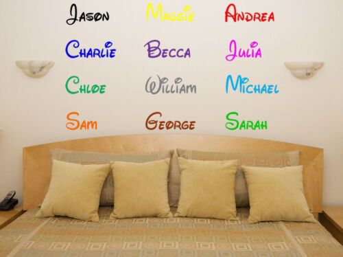 Disney Name Personalised Custom Font Bedroom Decal Wall Art  Sticker Picture