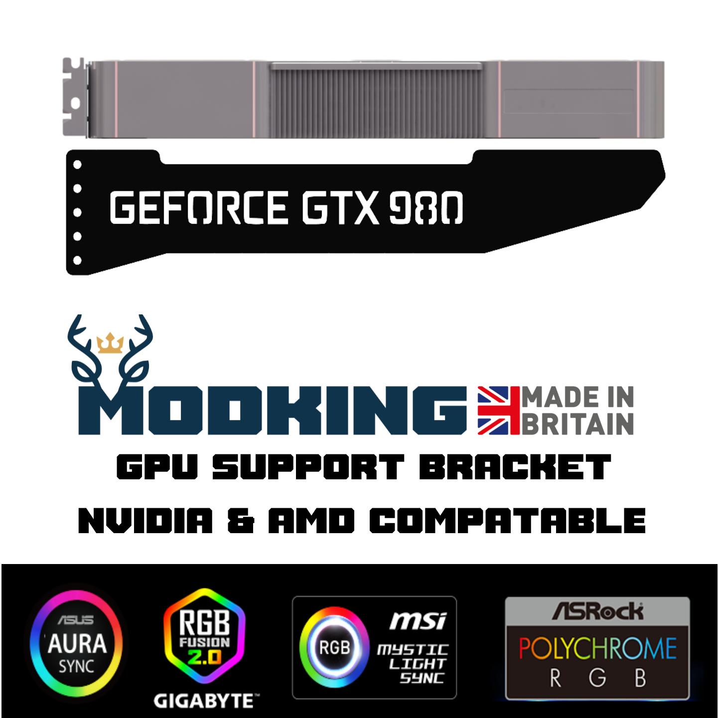 GTX 980 - ARGB GPU Graphics Card Sag Support Bracket Brace GTX RTX AMD NVIDIA
