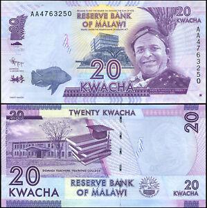 Malawi 20 Kwacha. UNZ 01.01.2012 Banknote Kat# P.57a