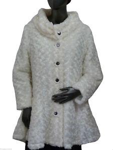 pelliccia invernale Giacca Giacca pelliccia di in Xl sintetica sintetica Giacca Leins bianca in elegante z0qdrax0