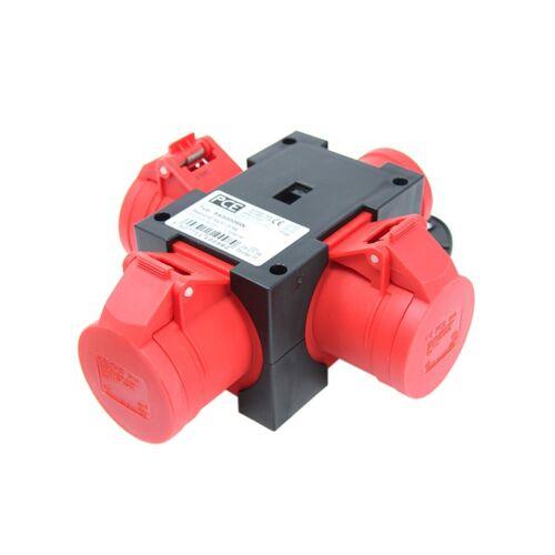 alimentation en alternatif 3-PHASE Splitter 16 A 400VAC IEC 60309 PCE Connecteur 9430006 W