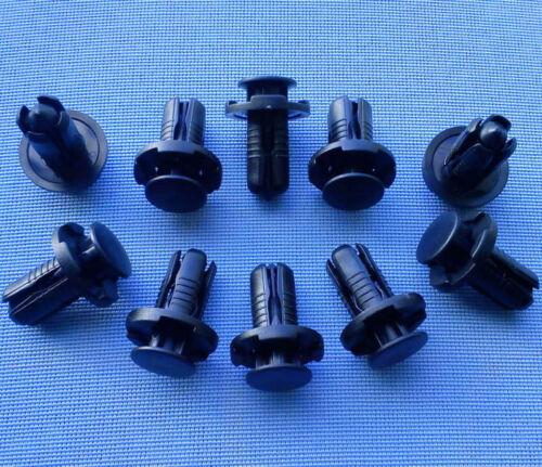 10x rivestimento clip fissaggio klips Supporto Clip Nero 10mm 139a