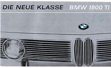 BMW 1800 Ti Saloon 1964-65 Dutch Market Foldout Sales Brochure