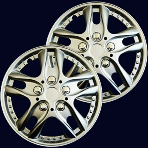 """2 13F UNIVERSAL FIT 13/"""" INCH CAR WHEEL TRIMS COVERS REPLACEMENT R13 HUB CAPS SET"""