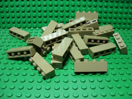 ** 25 CT LOT ** Lego NEW dark tan 1 x 4 standard bricks   Lot of 25