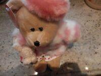 Starbucks Bearista Bear 46th Edition / 2006 / Valentines Girl / Dog