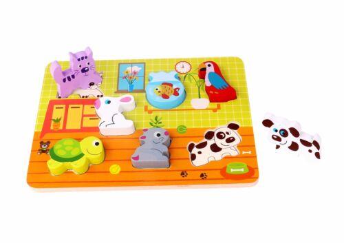 TKC480-S13 Pet Block Puzzle Wooden Pet Chunky Wooden Puzzle *Premium Quality*