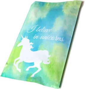 Designer-Poly-Mailers-Unicorn-Blue-10x13-034-or-6x9-034-Mailing-Shipping-Envelopes