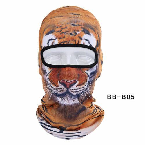 3D Animal Headgear Hat Ski Hats Mask Full Face Balaclavas Winter Warm Sports