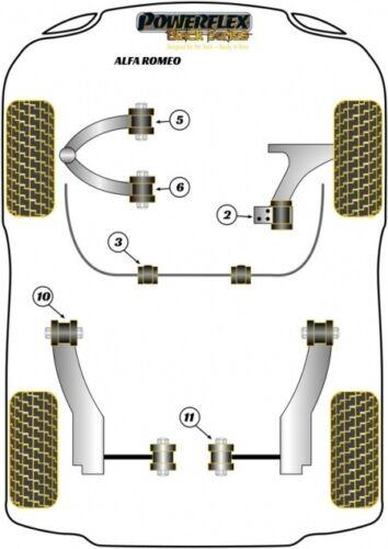 Powerflex PU Douilles ALFA 159 BRERA SPIDER chute correction terminaux adaptation va