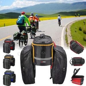 Bike Bicycle Rear Rack Pannier s Waterproof Seat Box Saddle Carry Storage