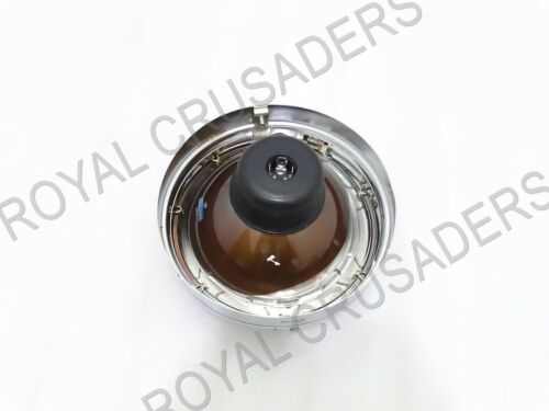 """NEW ROYAL ENFIELD 7/"""" COMPLETE HEADLIGHT WITH BULB #RE170 @JR"""
