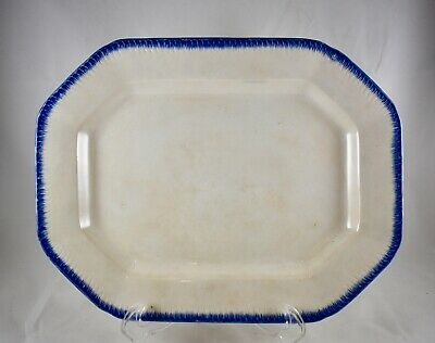 Antique Staffordshire Early Earthenware Blue Pearlware Plate 1825-1840