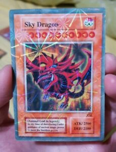 YUGIOH ORICA SLIFER THE SKY DRAGON RA OBELISK HOLO Custom Card GÖTTER KARTEN