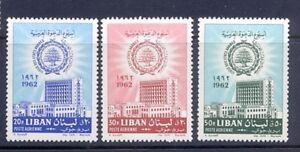 Intelligent Liban-liban Neuf Sans Charnière Sc # C334-c336 Ligue Arabe 1962