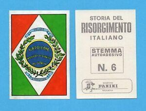 STORIA DEL RISORGIMENTO ITALIANO-PANINI 1969-STEMMA a scelta-Figurina recuperata