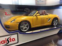 Maisto 1:18 Scale Special Edition Diecast Model Car - Porsche Boxster S (yellow)