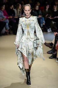 6590-Alexander-Mcqueen-NEW-Glass-Wing-Butterfly-Double-Satin-Fringe-Cuffs-Dress