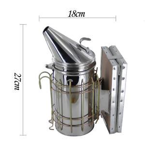 Apicoltura-Fumatore-Bee-Hive-Api-Affumicatore-Con-Heat-Shield-In-Acciaio-Inox
