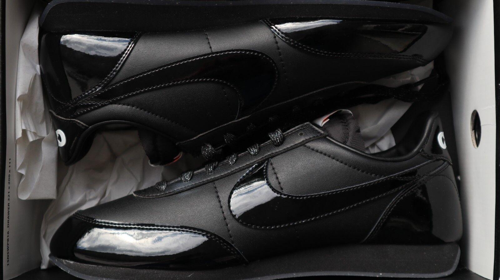 Nike nighttrack/CDG Nuevo 8.5 Reino Unido 43 EE. UU. totalmente Nuevo nighttrack/CDG Negro/Negro-Blanco 471a57