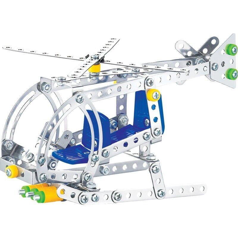 * 28377 Costruzione L' Elicottero Kit Tipo Meccano Metallo Viti E Bulloni Gioco