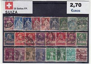 25 SELLOS SUIZA DIFERENTES III oFBtVbno-07133428-215485916