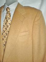 Mens Vintage Tan 100% Camel Hair Wool Blazer Sport Coat Jacket Usa 41r
