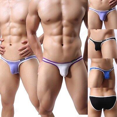 Men's Sexy Smooth Briefs Underwear Soft Bulge Pouch Mini Bikini Underpants M-XL