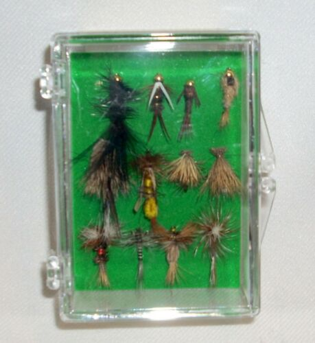 12 Custom Angler Fly Fishing Flies Parachute Nymph Wooly Bugger