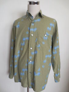 various colors 63324 2baf7 Details zu Muster Hemd PACKARD (by SIGNUM) M L langarm Baumwolle grün blau  Webmuster /0C4