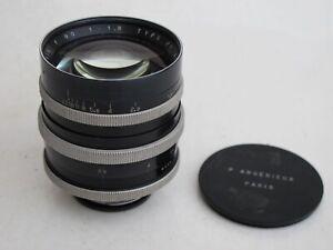 RARE-P-Angenieux-Exakta-mount-90mm-f-1-8-TYPE-P1-lens-with-caps-NICE-034-LQQK-034