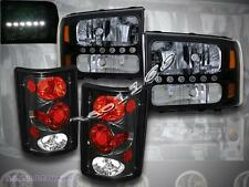 2000 - 2004 FORD EXCURSION BLACK LED HEADLIGHTS AND BLACK TAIL LIGHTS BRAND NEW