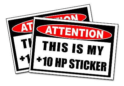 +10 HP Sticker Car Truck SUV ATV UTV Decal Horsepower