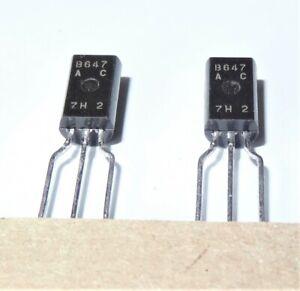 2SB647 4pcs B647AC 80V 1A 900mW PNP Transistor Genuine NOS