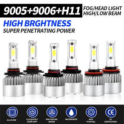 H11 Total 5000W CREE LED Headlight Kit High /& Low Light Bulb 600000LM Car 9005