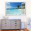 Hawaii-paisaje-falso-Ventana-Pared-Adhesivo-Decoracion-Hogar-Sala-de-Estar-Arte-Calcomanias-PVC miniatura 1