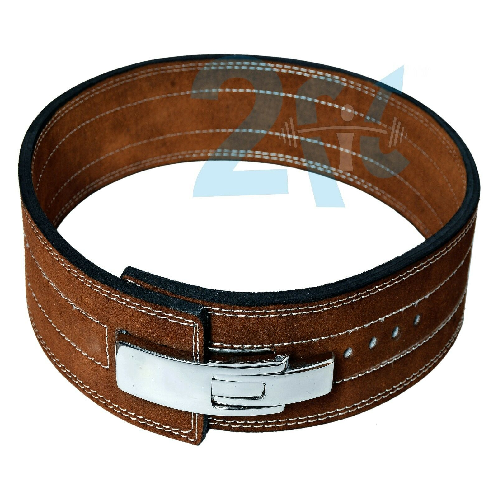 2fit Weight energia Leather Lever Pro Belt 10MM Gym Training energia lifting Marronee