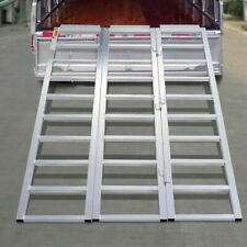 "69"" X 45"" Aluminum Tri-Fold Folding Motorcycle ATV Lawn Snowmobile Loading Ramp"
