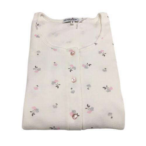Amica Camicia Mod Italy Notte Bianco rosa Donna 72a355 100Cotone Made Da In f76Ygby