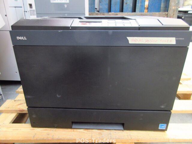 DELL Color Laser A4 Printer 5130cdn COLOR Y988P USB NETWORK - PRINTS HALF ONLY