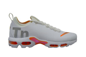 best service e3a7b 4e992 Details about Mens Nike Tuned 1 Air Max Plus TN SE - AQ1088100 - White  Silver Trainers