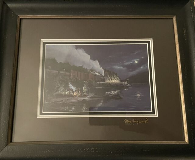 """Signed 9""""x6"""" Max Jacquiard Print, Canadian Pacific Railway,"""