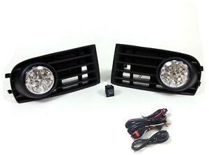 LED-Niebla-Luces-Lamparas-Parrilla-SET-para-VW-GOLF-5-MK5-2003-2009-amp-Kit-de