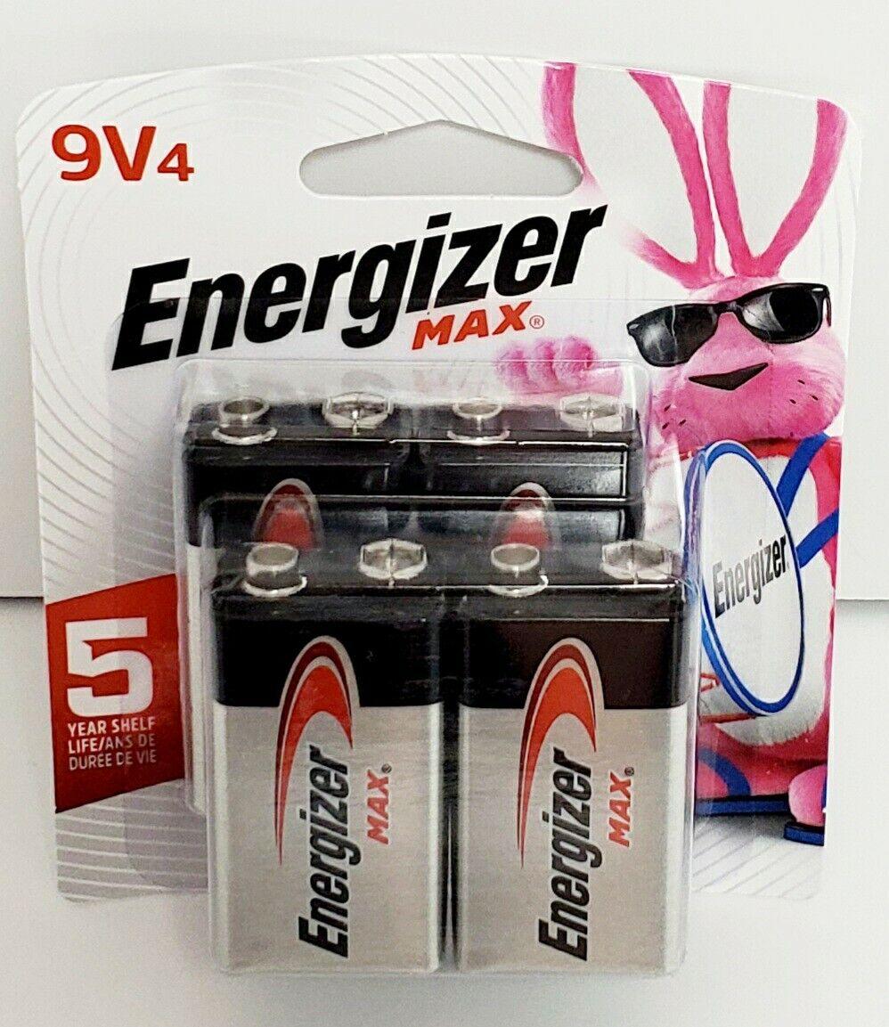 2 Battery Count Premium Alkaline 9 Volt Batteries Energizer Max 9V Batteries Renewed