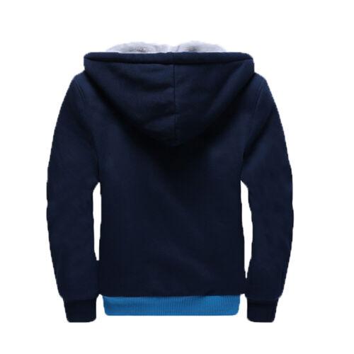 Eminem Hoodie Thicken Fleece Hooded Coat Winter Warm Sweatshirt Full-Zip Jacket