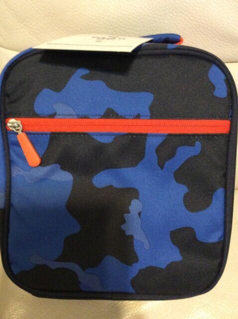 Pottery Barn Teen Gear Up Classic Lunch Bag Camo Blue