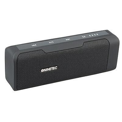 NINETEC POWERBEAT Bluetooth Lautsprecher mit integrierter PowerBank und Radio Bl