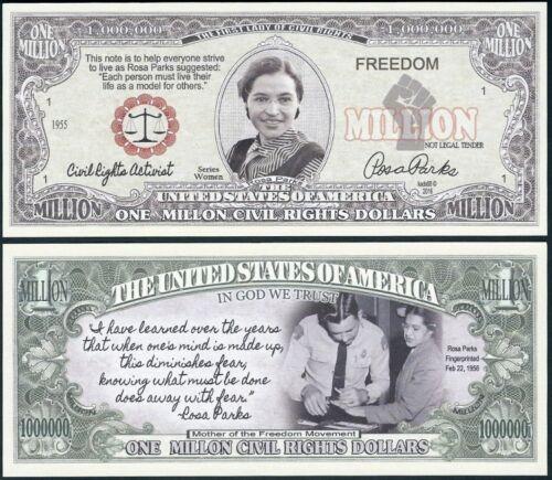 Rosa Parks One Million Civil Rights Dollar Commemorative Bill Lot of 500 BILLS