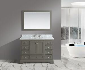 Bathroom Sink Vanity White Carrara