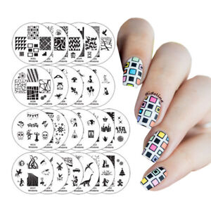 Winstonia-Easy-Nail-Art-Stamping-Plates-Set-Image-Bundle-Manicure-Template-Discs